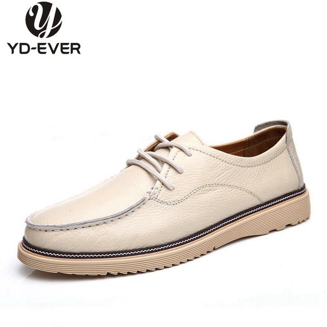 100% натуральная кожа мужчины обувь - ручной Большой размер дышащий свободного покроя ...