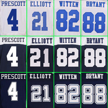 SexeMara Cheap High quality Men's 4 Dak 21 EZEKIEL 88 DEZ 82 JASON 22 EMMITT 9 TONY 12 ROGER BLUE WHITE elite jerseys(China (Mainland))