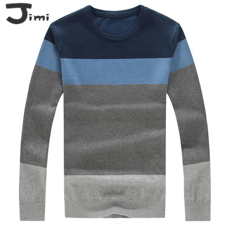 sweater men 2015 autumn new mens sweaters strip casual sweaters men plus size jumpers 5xl 4xl 3xl xxl o neck pullover men(China (Mainland))