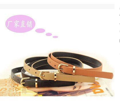 Cinto Belts Factory Direct Wholesale Price Minimalist Magazine Models Wild Female Pu Leather Belt with A Thin Snakes Yaolian(China (Mainland))