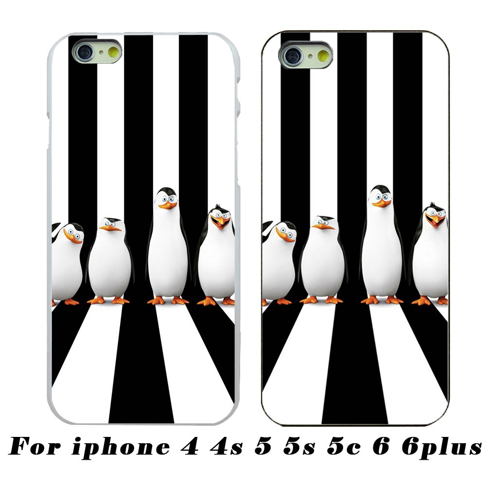 Wholesale And Retail Cute Penguins Protective Layer For The Apple iPhone 4/4s 5/5s 5c 6/6plus Free Shipping
