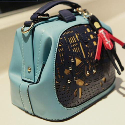 Mara's dream Women Messenger Bags fashion Patchwork barrel-shaped PU shoulder bag Vintage Cell Phone Pocket hand bags Teens(China (Mainland))