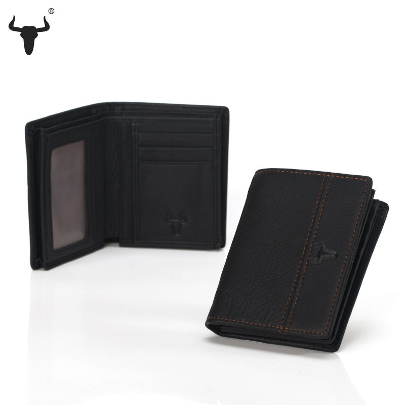 High Quality Man Wallets Genuine Leather Men's Purse Top Cow Leather Bull Retro Vertical Standard Wallet Short Casual Patchwork(China (Mainland))