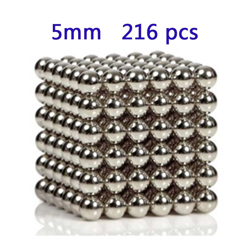 Retail 216pcs/lot Diameter 5mm Buck yballs Neo cube Magic Cube Puzzle Magnetic Magnet Balls Spacer Beads Education Toy+ Gift Box(China (Mainland))