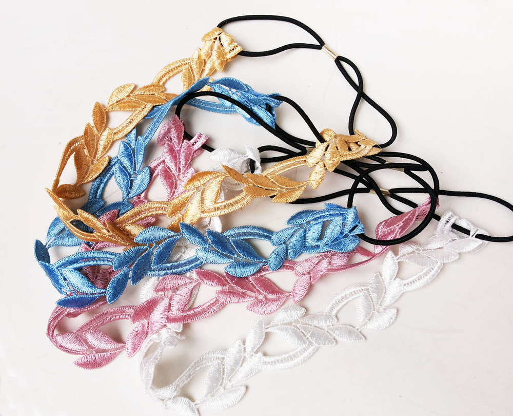 Korean goods olive leaves Lace hair band HB4033(China (Mainland))
