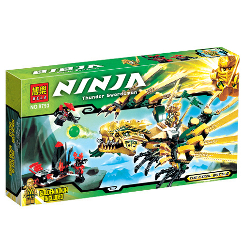 Ninjago Golden Dragon Building Blocks Sets 25Bela 9793 Educational Toys Brick LR-115