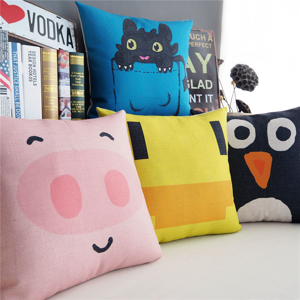 Wholesale Korean creative cute Home Pillow Decoration little duck Pig Seat Cushion cozy and stylish Cushions Home Decor