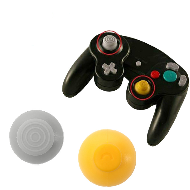 New 1 Set 2 Colors Replacement Analog Switch Thumbsticks Grips Thumb Joystick Cap For NGC gamecube GC controller(China (Mainland))