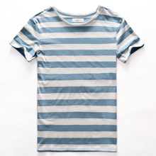 Buy Zecmos New Stripe T-Shirt Men Slim Fit Navy Blue Stripe T Shirt Man Short Sleeved Fashion O Neck Striped Top Tees for $9.99 in AliExpress store