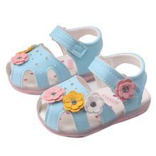 SIF Малыша Цветы Девушки Сандалии Освещенные Мягкой Подошве Принцесса Детская Обувь МОЖЕТ 16(China (Mainland))