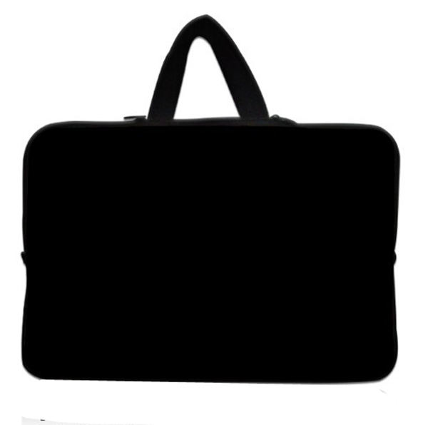 """13"""" Plain Black Neoprene Soft Laptop Netbook Sleeve Bag Case Cover +Hide Handle For 13.3"""" Apple MacBook Pro,Air,Dell XPS 13(China (Mainland))"""