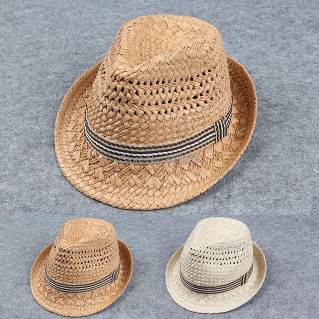 Розничная высокое качество дети шляпа фетровых ребенка летом солнце крышка дети мягкая фетровая шляпа шляпа мальчики девочки соломы крышка джаза