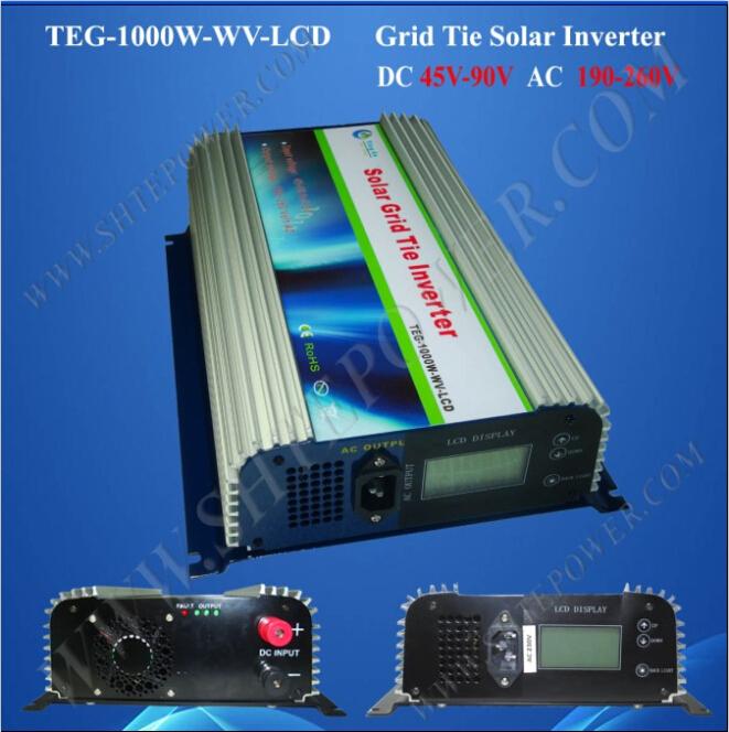 45v-90v solar inverter solar grid tie inverter 1000w pure sine wave inverter(China (Mainland))