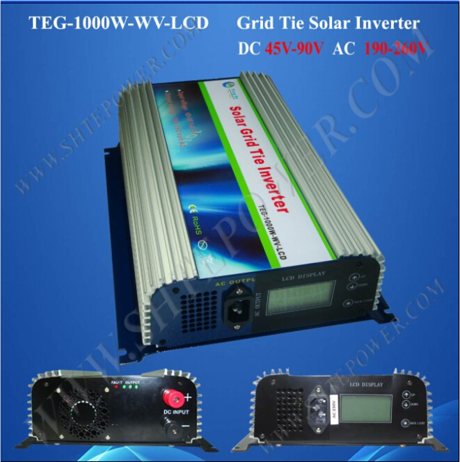45v-90v solar inverter solar grid tie inverter 1000w pure sine wave inverter(China (Mainland))