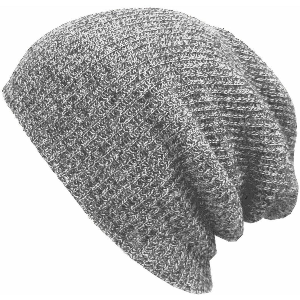 Winter Casual Cotton Knit Hats For Women Men Baggy Beanie Hat Crochet Slouchy...