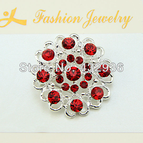 120pcs/lot wholesale Fashion Female Rhinestone Accessories Corsage Red Blue Crystal Brooch Pin Badge For Party<br>