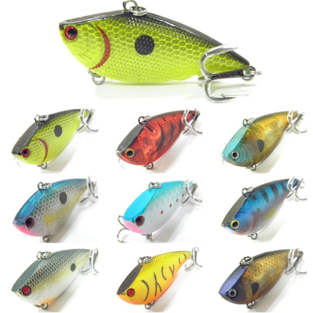 Wlure fishing lure lipless trap crankbait hard bait deep for Fishing with minnows for bass