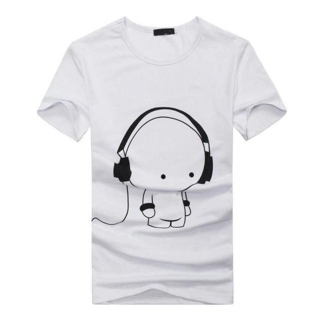 Новый 2016 Лето Мужская Повседневная Коротким Рукавом 3D Аниме Смешно футболки Уличной Моды Хип-Хоп Фитнес Ти Топы футболка homme Z1