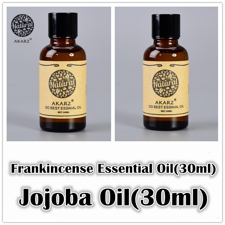 AKARZ Famous brand Anti ageing sets pure Frankincense essential oil+Jojoba oil Repair wrinkles and scars body Massage Oil 30ml*2(China (Mainland))