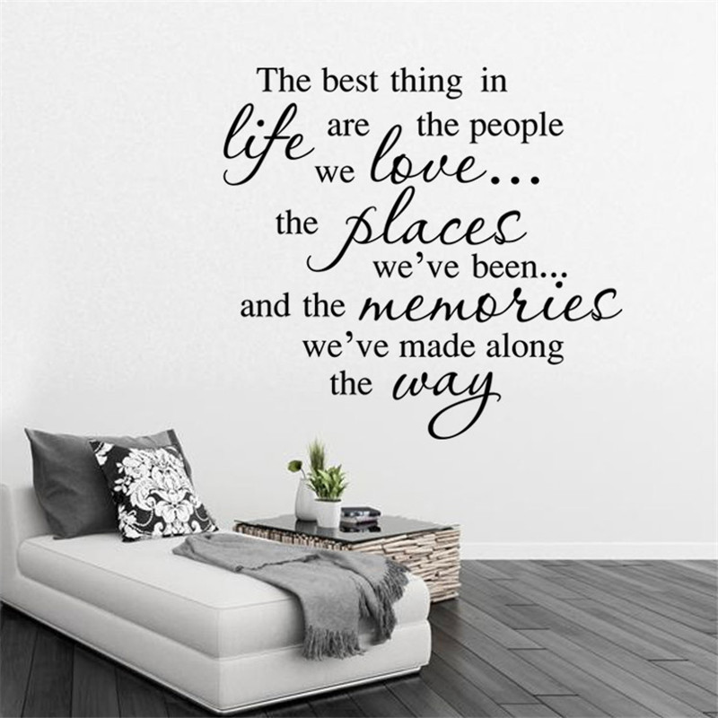 The Best Things In Life English Quote Wall Sticker Home Decor Removable Sticker 2015 Christmas Decals(China (Mainland))