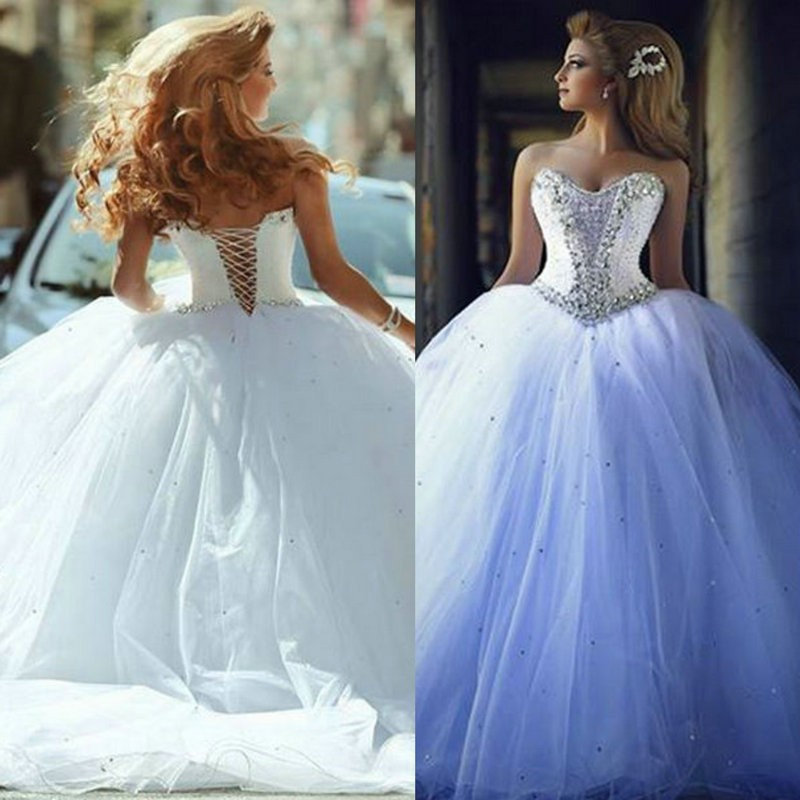 Ball Gown Wedding Dresses With Corset