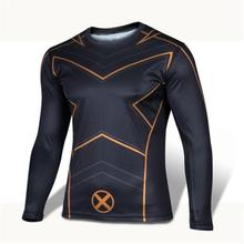 In the spring of 2016 winter, marvel comics superhero avengers 3 d captain America, iron man spider-man, gym long sleeve T-shirt