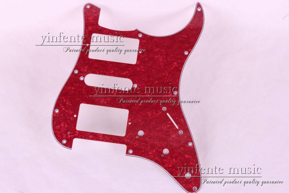 New 1pcs Electric Guitar pickguard Strat/ST Yellow style 3-ply HSH #A64(China (Mainland))