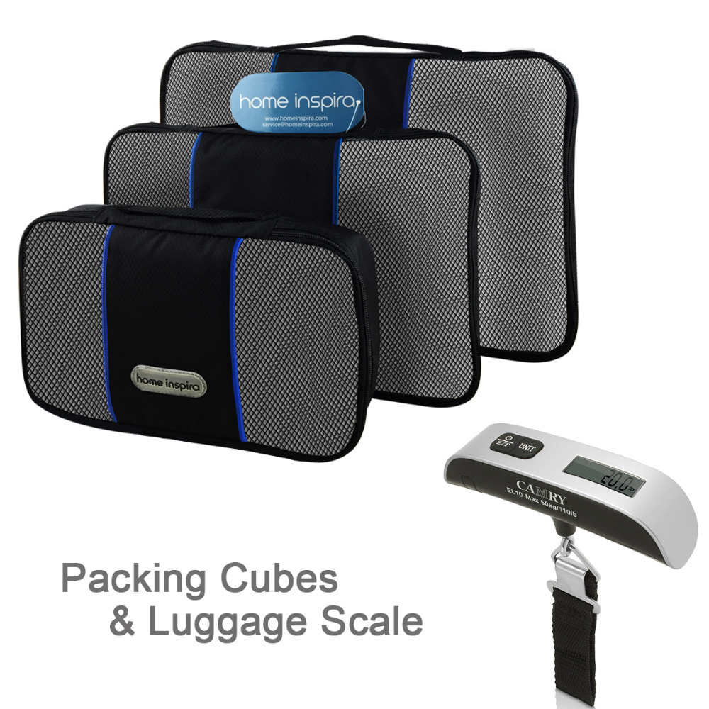 Travel Packing Cube Organizer 3pcs Travel Set With CAMRY Luggage Scale Bundle(China (Mainland))