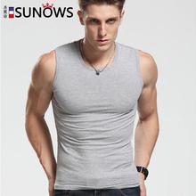 Fashion Brand Men s 100 Cotton O Neck Tank Tops Summer Male Sleeveless V Neck Vest
