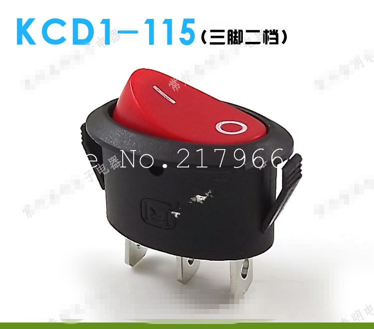 2 small miniature oval gear power switch rocker switch 3 feet 2 files small red KCD1-115, HOT sale !!!free shipping<br><br>Aliexpress