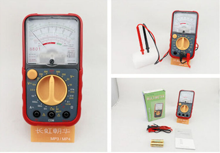 Portable dial Analog multimeters MF8801 AC/DC Voltmeter Electrical Tester Meter Pointer digital Multimeter Free shipping(China (Mainland))