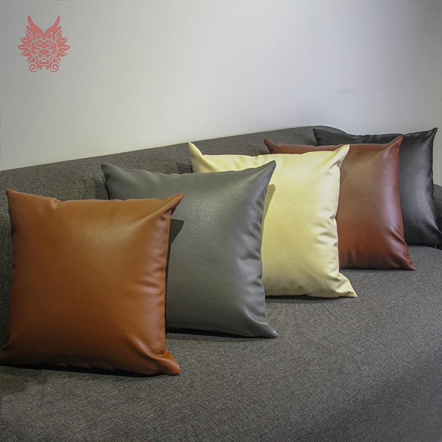 Achetez en gros housse de coussin en cuir en ligne des for Housse pour canape en cuir