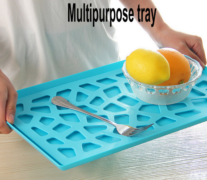 Creative fashion hollow plastic pallet storage rack compartment tray Drain fruit vegetable dish Kitchen Organizers - Traders stars store