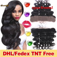 Brazilian Lace Frontal Closure Virgin Hair Body Wave Lace Frontals With Baby Hair Ear To Ear Closure Full Lace Frontal Closure(China (Mainland))