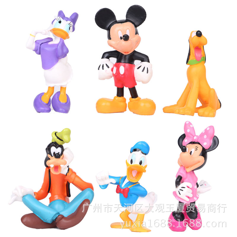 Mickey Mouse Clubhouse Anime Figure Set Minnie Mouse Plastic Toys PVC Mini Action Figures Set Kids Toys Baby Gift For Boys Girls(China (Mainland))