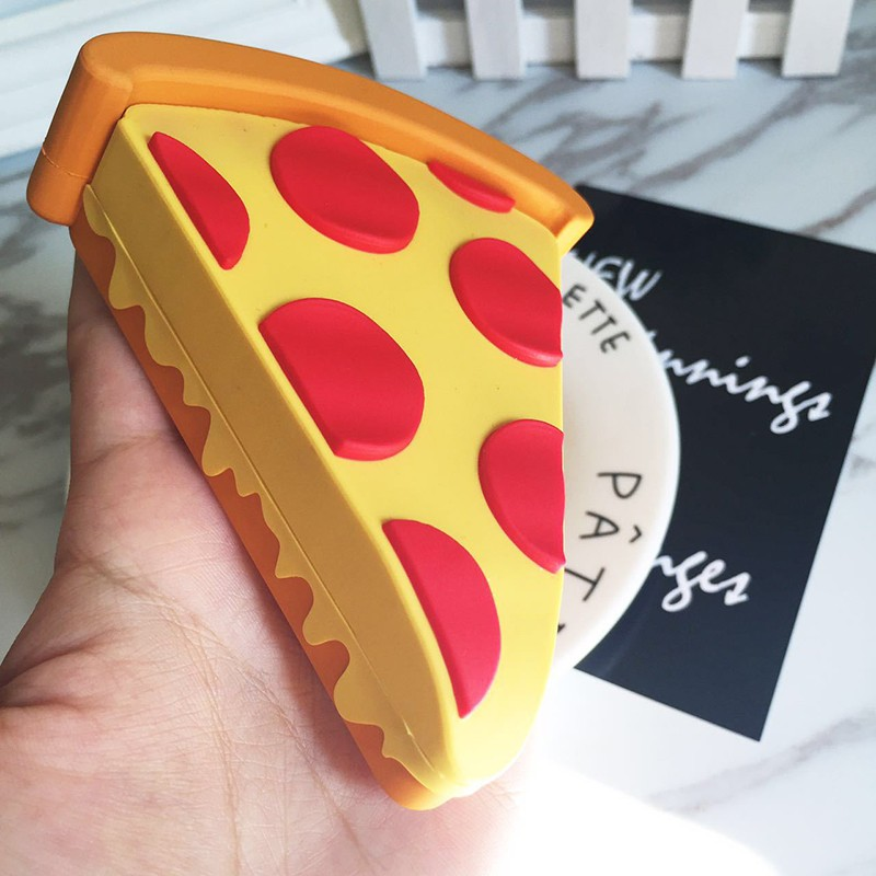 Hot sale 2600mah Pizza Pineapple Eggplant Power bank Battery Portable Cute Cartoon Phone Battery Charger For All Mobile Phone