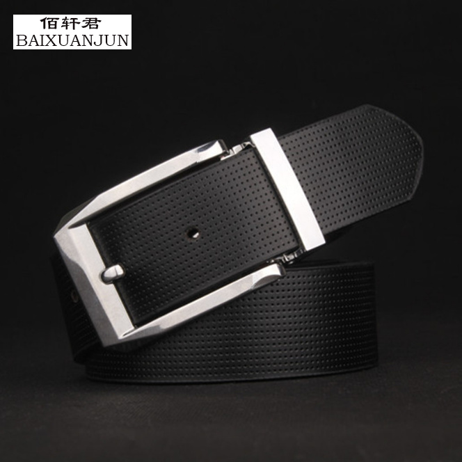 [BAIXUANJUN] The new high-end men's leather pin buckle leather belt men's fashion business belts leisure wild influx of men belt(China (Mainland))