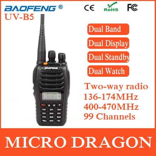 New BaoFeng UV-B5 Professional Dual Band Transceiver FM Ham Two Way Radio Walkie Talkie Transmitter cb Radio Station