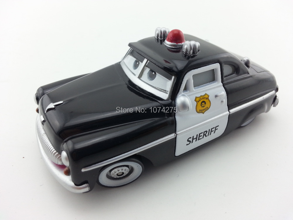Pixar Cars Sheriff Metal Diecast Toy Car 1:55 Loose Brand New In Stock & Free Shipping(China (Mainland))