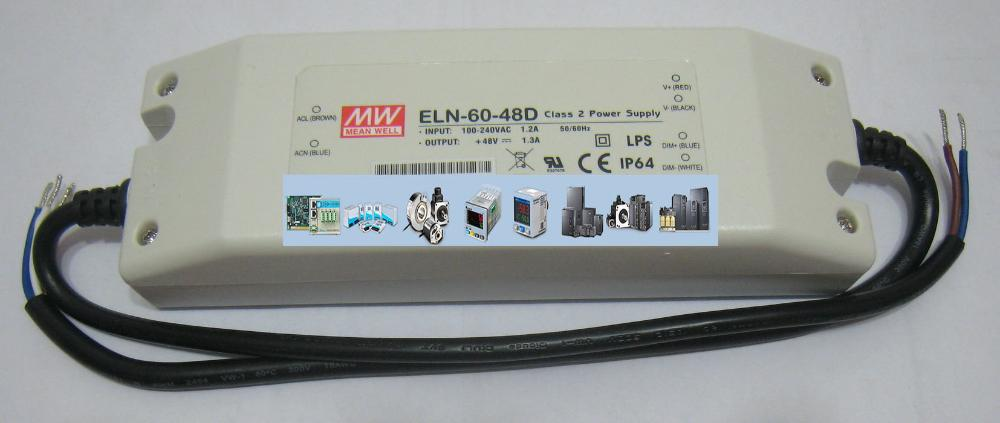 MEANWELL Waterproof Switch Power ELN - 60-48 48 v / 0.63 A 2 years giant New to the Original<br><br>Aliexpress