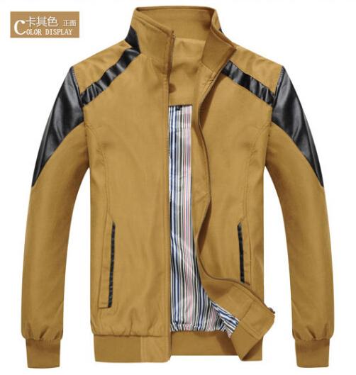 Hot Sale 2015 Mens Outwear Slim Fit Jacket Long Sleeve Zipper Hoodies Coat Sportswear Windcheater Military Clothing(China (Mainland))
