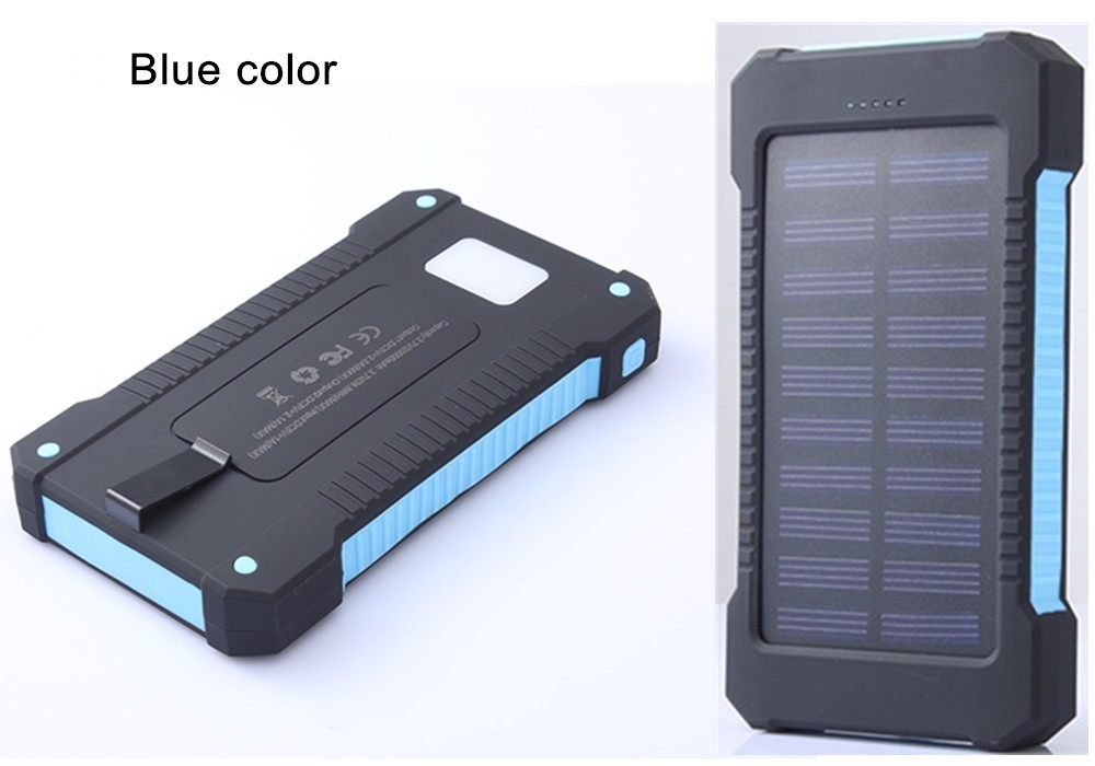 Dual USB 8000mAh Solar Power Bank Solar Panel Portable Charger Led Mobile Cargador For iPhone Xiaomi Samsung Mi Phone