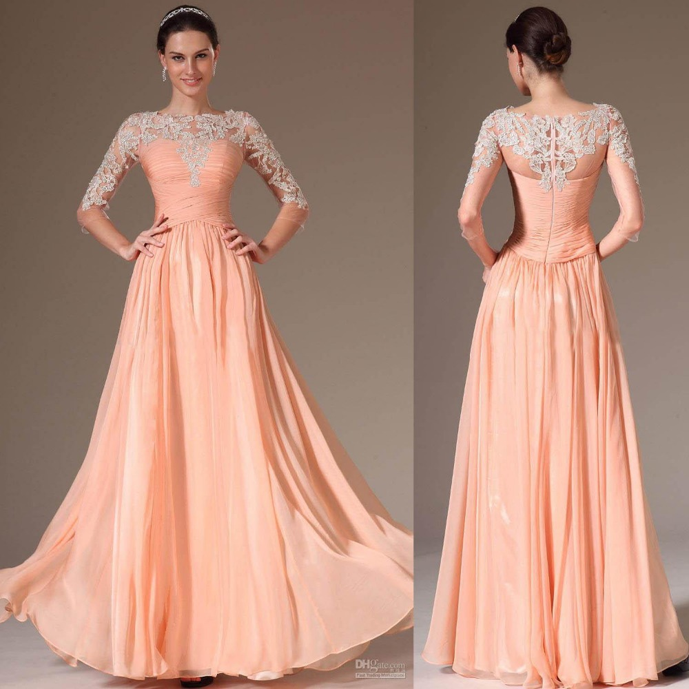 Peach Color Prom Dresses - Homecoming Prom Dresses