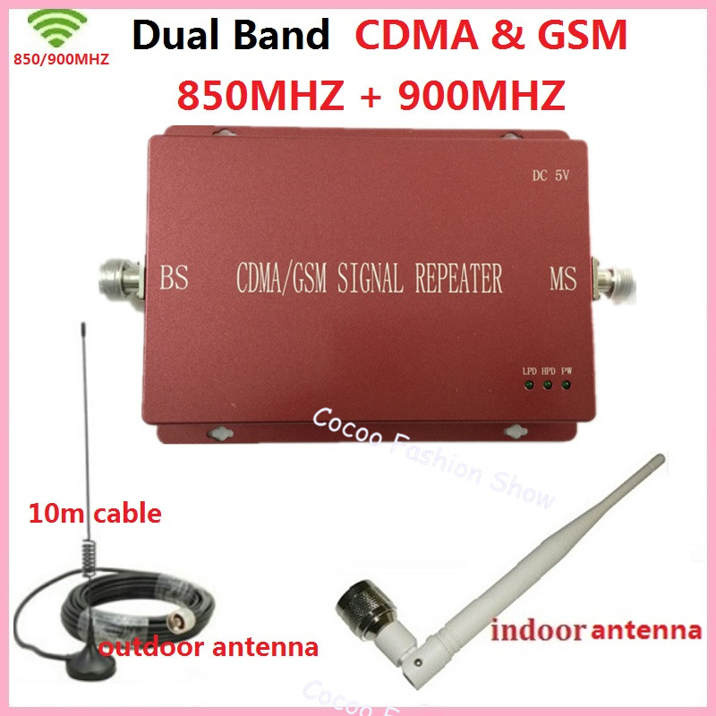 Dual Band Cellular Signal Booster CDMA GSM Signal Repeater GSM 850 900 Mobile Phone Signal Repeater Amplifier for Homes /offices(China (Mainland))