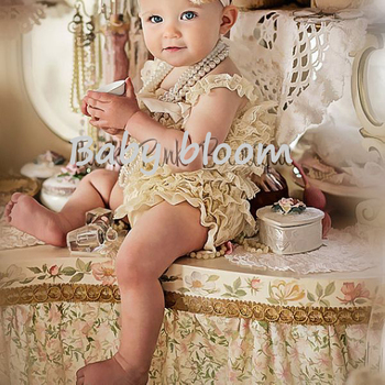 2015 Cute Petti Baby Girl Lace Romper with Straps and Ribbon Bow Jumpsuit Infant 31 Colors in Stock