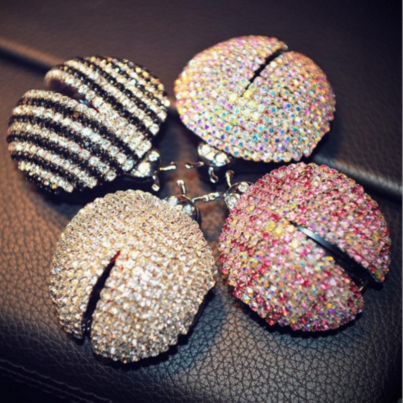 IT IS MY CAR air freshener outlet shining diamond ladybug Creative perfume lovely cool styling IT IS EXPENSIVE(China (Mainland))