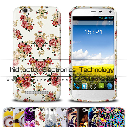 arrived Flowers&tiger printed case cover Fly IQ459 EVO Chic 2 bag IQ 459 - Kid actor Electronics Technology store