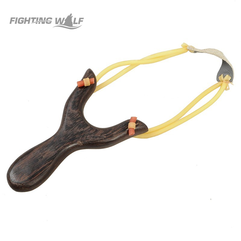Scout Sturdy Wooden Slingshot Long Distance Shot Brace Catapult With Rubber Band For Hunting Sports Practice Outdoor Games(China (Mainland))