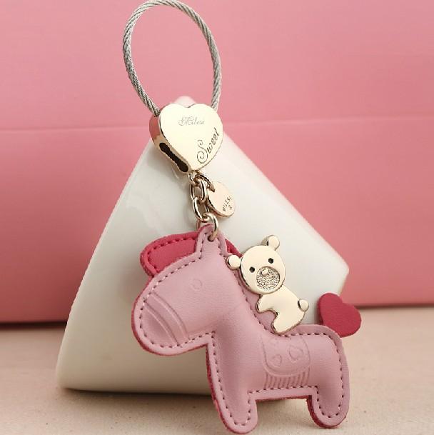 Milesi - New 2015 Brand Horse Key chain Keychain Trinket Key Holder Rings for Women Novelty Gift innovative Items Bag Pendant(China (Mainland))