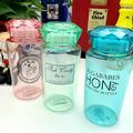 Outdoor Sport Favorite Fashion Plastics Water Bottles 3 Color Diamond Shape Lids Drinking Bottle School For